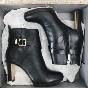 Louise Et Cie Leather Black Booties Vince Camuto